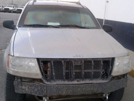 An armored Jeep Cherokee was found Monday evening near