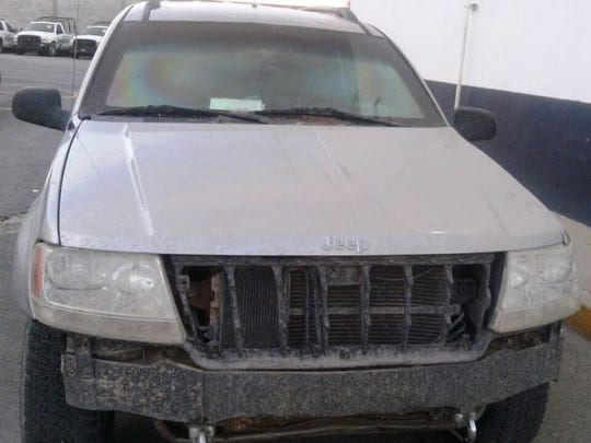 An armored Jeep Cherokee was found Monday evening near Praxedis G. Guerrero.