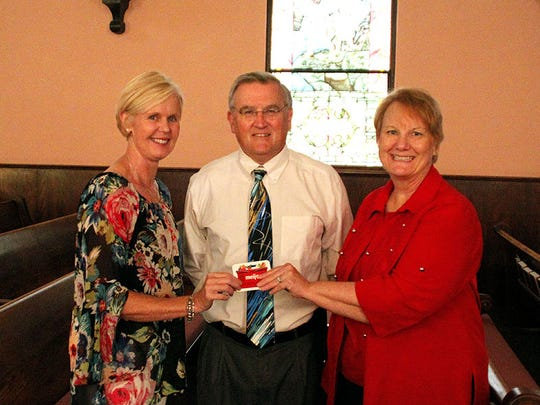 Meijer grant The Family Needs Ministry team at St. Lucas United Church of Christ was privileged to receive a grant from Meijer for their ministry to benefit the homeless families living at Lucas Place. Pictured from left are grant writer Lisa Uhde, St. Lucas UCC Pastor Lynn Martin and Chair of the Family Needs Ministry Debbie Yellig.