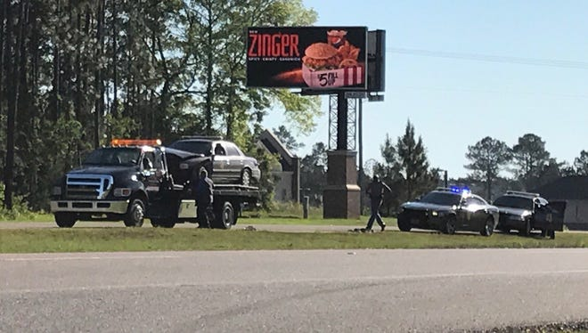 "Two Mississippi Highway Patrol vehicles were damaged in a ""semi-speed"" pursuit of a suspect in a stolen Lamar County Sheriff's Department vehicle Tuesday morning in Lamar County."