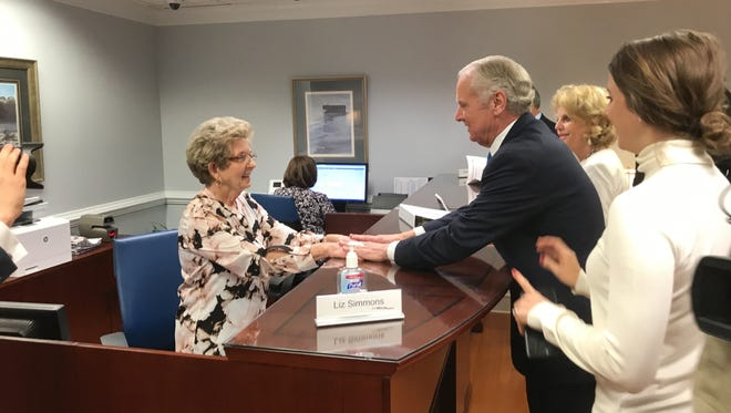 Gov. Henry McMaster files to run for the 2018 governor's race on Tuesday in Columbia.