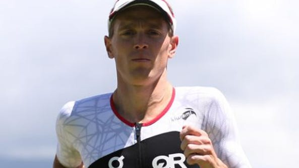 Des Moines Triathlon winner Matt Hanson of Storm Lake.