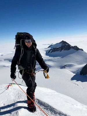 Todd Pendleton summiting Vinson Massif in Antarctica in January 2018.