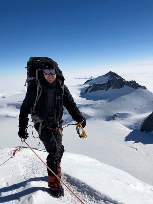 Todd Pendleton climbing Vinson Massif