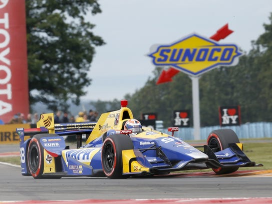 Alexander Rossi drives to a win in the 2017 Verizon
