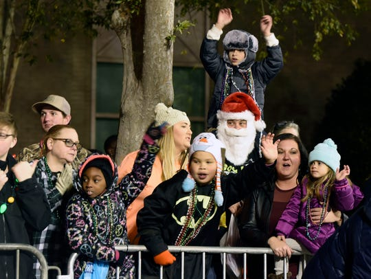 The Pensacola Christmas Parade makes its way around downtown Pensacola last year. The 2018 parade is set for Saturday.