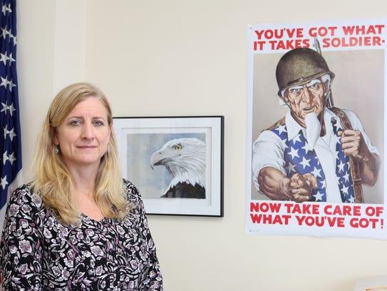 Susan Branam, acting director of Rockland County Veterans
