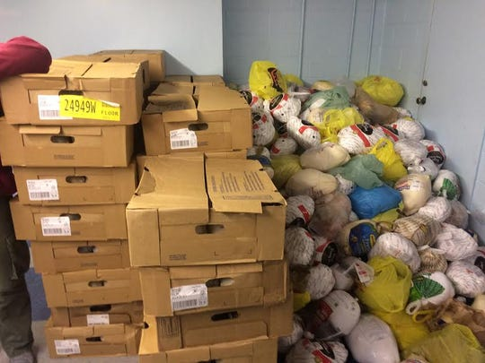 Turkeys donated by the Cedar Grove UNICO organization
