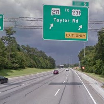 Taylor Road exit. File art.