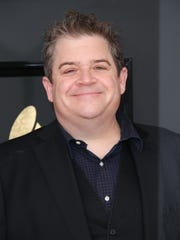 Patton Oswalt arrives at the 59th Annual Grammy Awards