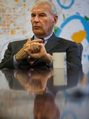 Wilmington Mayor Mike Purzycki speaks to News Journal reporters Wednesday, Dec. 13, 2017.