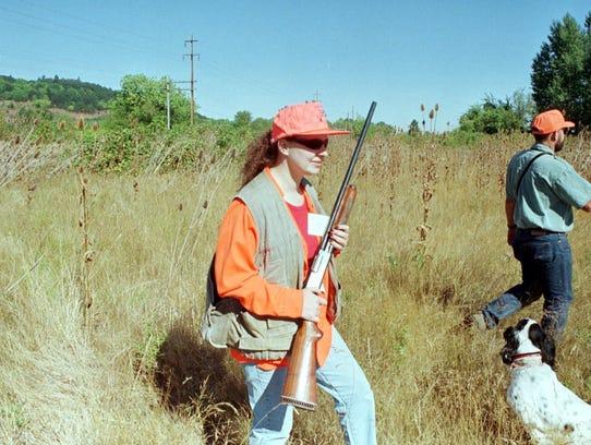 Rebekah Bartel of Salem hunts for pheasant in the E.E.