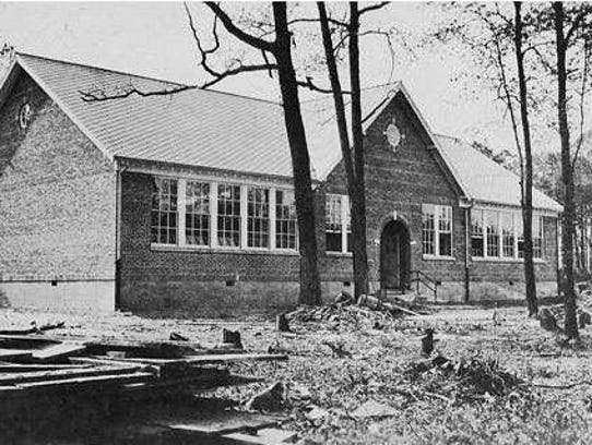 A historic photograph of the Cape Charles Elementary