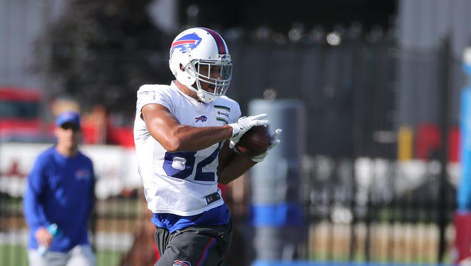 Logan Thomas is trying to make the Bills roster as a tight end.
