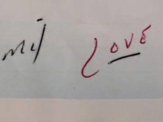 The final words of a love letter written by Bernard
