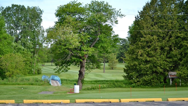 The No. 1 hole at Pine Acres Golf Course in Abrams, where an Oconto County  deputy spotted a man on or near the bridge at 1:30 a.m. on Tuesday, May 31. The man fled, but fired a gun at the deputy before running into the woods.