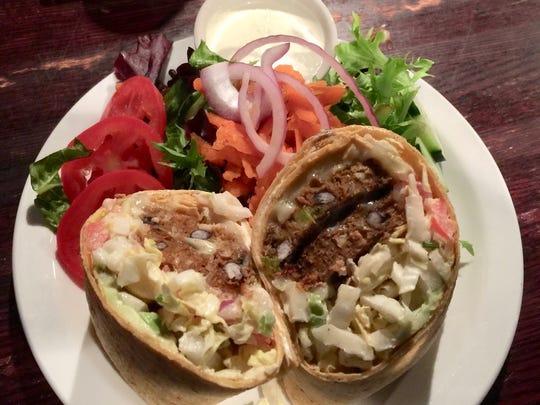 The Cantina wrap, a popular vegetarian option