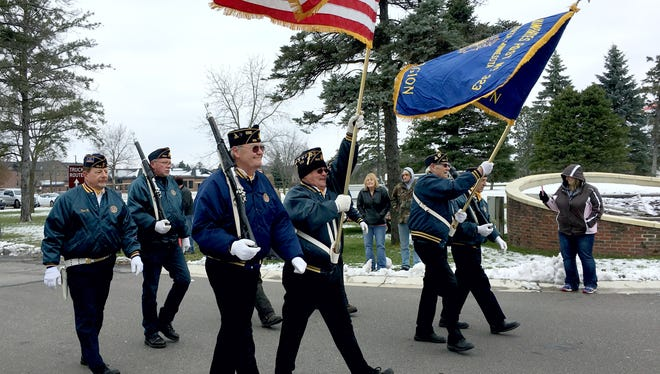 In this November 2017 file photo Veterans from the Clearwater American Legion Post 323 marched in the annual St. Cloud Area Veterans Parade.