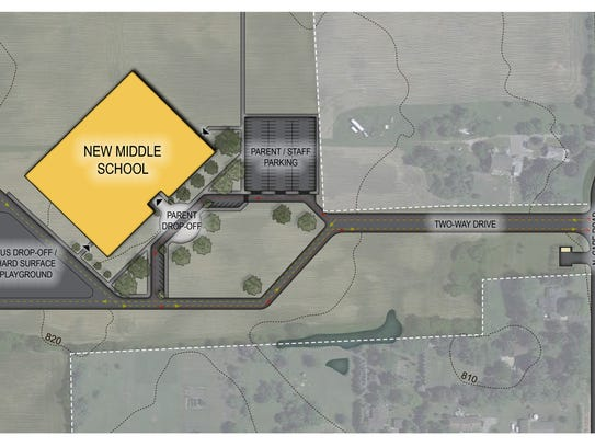Conceptual plan for the construction of a new middle