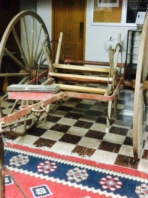 The Waupun Historical Society has recently received a donation of a wooden hand cart fire truck.