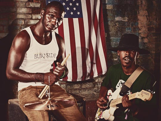 """Cedric Burnside Project, led by Cedric Burnside (left), won a Blues Music Award last year for """"Descendants of Hill Country."""""""