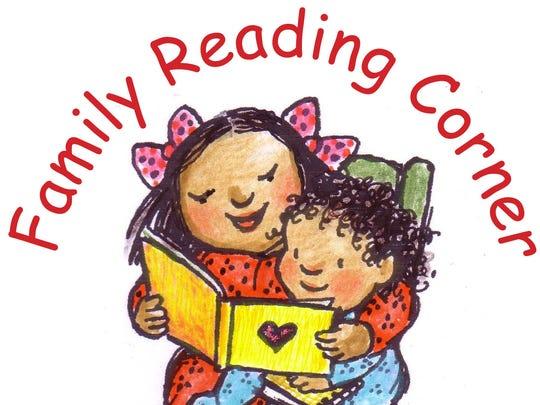 The logo for the Family Reading Partnership's Family Reading Corner