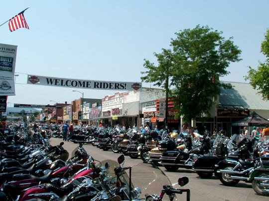 By mid-afternoon Saturday, motorcycles dominated Main