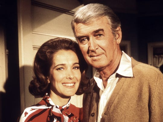 Julie Adams and Jimmy Stewart promo photo from 'The