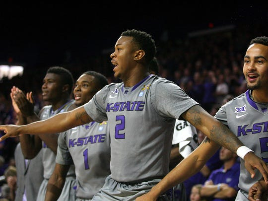 Kansas State Wildcats guard Marcus Foster (2) holds