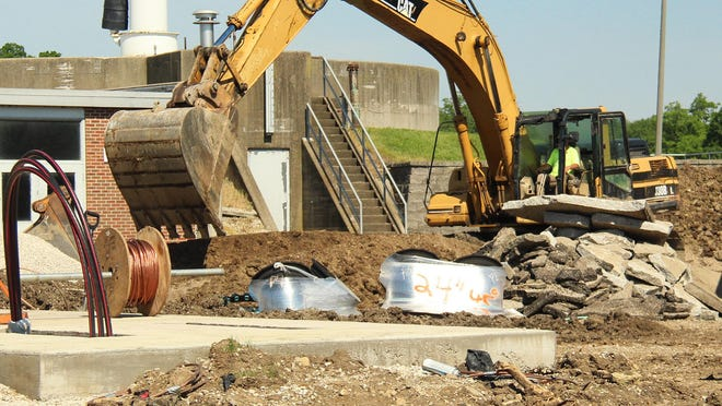 One of the major city projects taking place is at the water treatment plant.