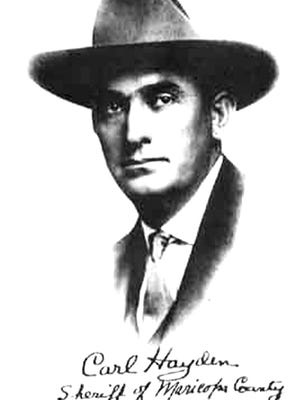 Less than a year after being elected Maricopa County sheriff in 1910, a handsome, 29-year-old Carl Hayden became the center of the last Great Arizona Train Robbery, which might have helped send him to Congress.