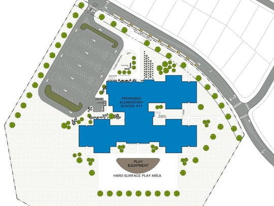 The site plan for Ankeny elementary #11.