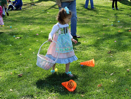 SUNDAY -- There will be an Easter egg hunt from 2-4