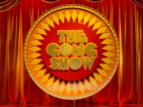 "The logo for 2017 edition of ""The Gong Show"" is a brighter"