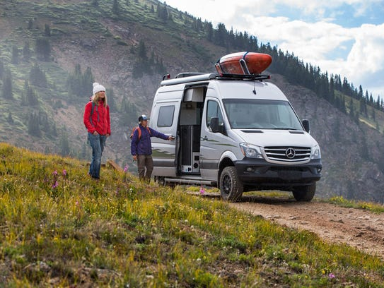 Winnebago's Revel is pictured here. The four-wheel
