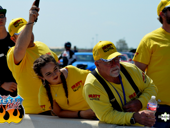 Fans watch during a recent Texas Mile event in Victoria.