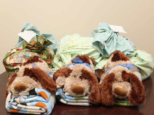 Sweet Dreams donations at the Marshfield News-Herald office on April 20, 2015