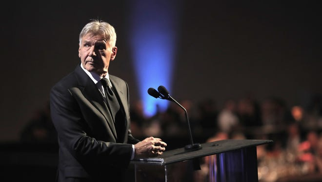 Harrison Ford, seen here at the 2017 Hollywood Film Awards on Nov. 5, responded to victims of a California car accident on Sunday.