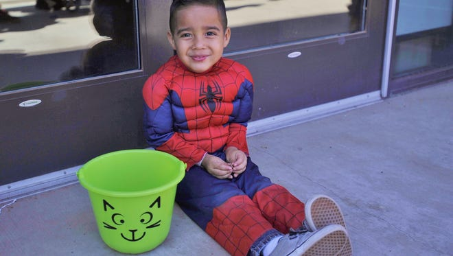 Ezekiel McPhetridge went to Parenting Network's Special Lives event dressed as Spiderman. The event is designed for families of children with special needs.