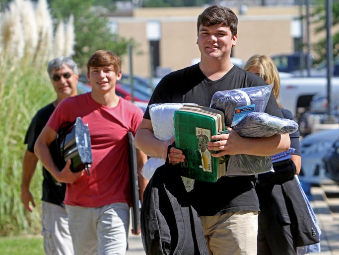"The University of Louisiana at Monroe's fall semester kicks off with ""Move in Mania"" Friday. Hundreds of freshmen arrived to unload possessions and feel out the campus before classes begin Monday."