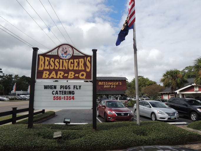 Family-owned Bessinger's, a roadside complex that includes both the main restaurant and a more streamlined sandwich shop, sits conveniently along busy Savannah Highway.