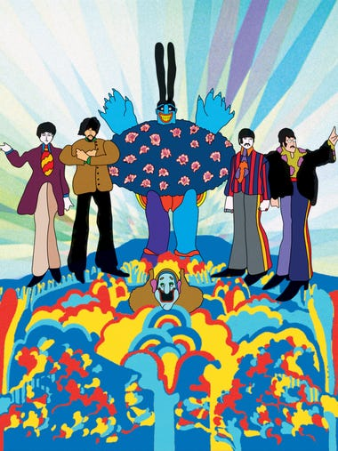 The Beatles and the Chief Blue Meanie