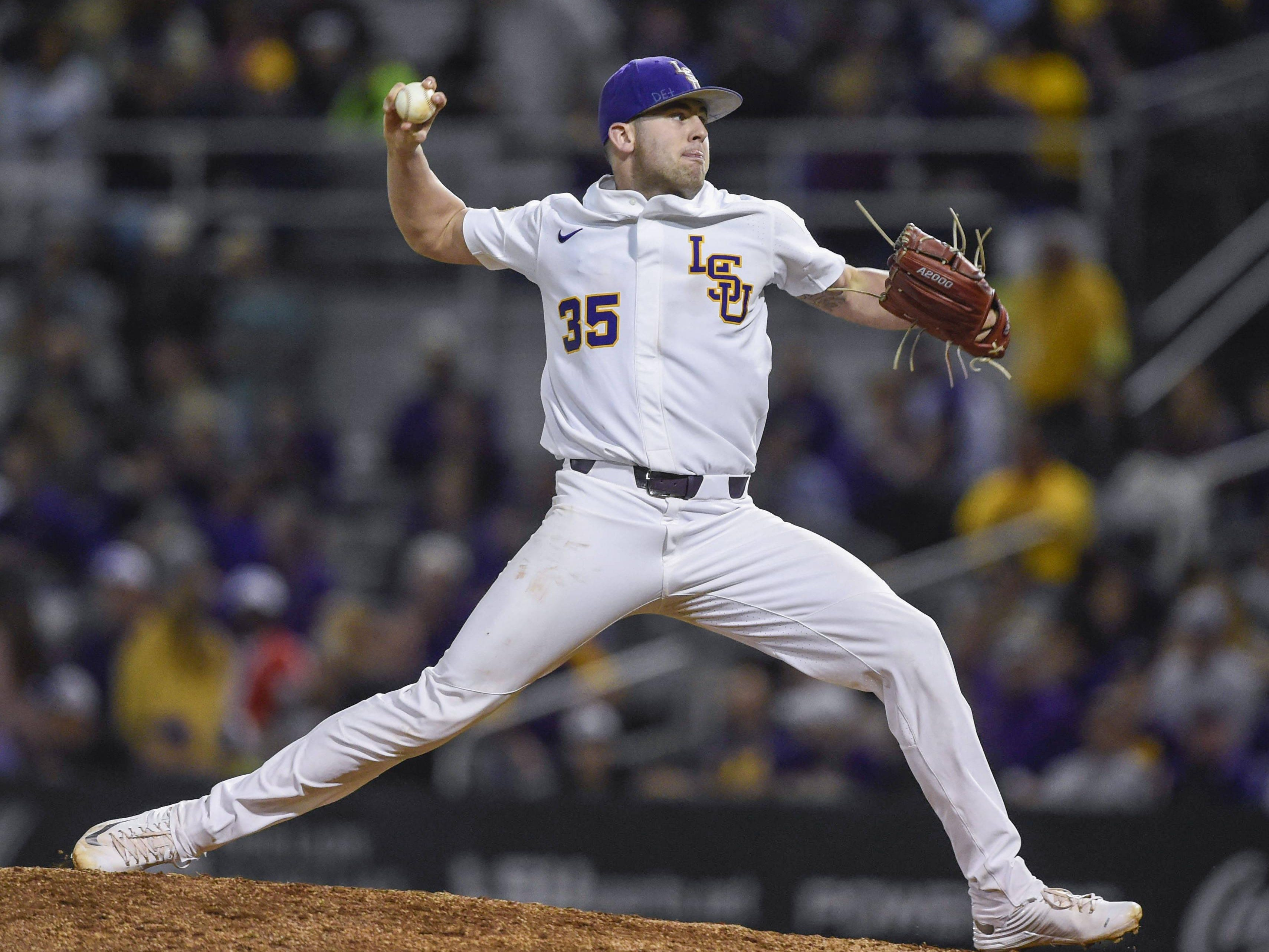 Alex Lange allowed two runs in 7 1-3 inning at Alabama on Thursday night.