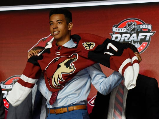 The Coyotes took Canadian defenseman Pierre-Olivier