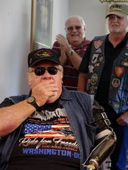 Vietnam War veteran and Medal of Honor recipient Gary Wetzel is overcome with emotion as he sees the kitchen for the first time in his remodeled South Milwaukee home.