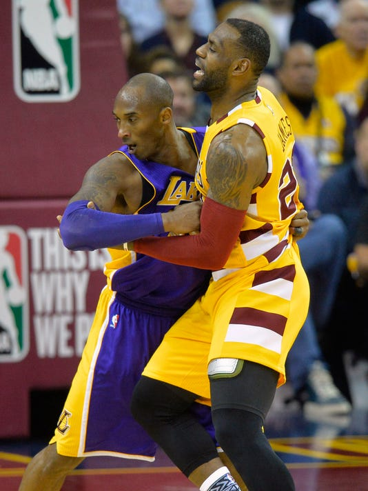 623083e12e72 NBA  Los Angeles Lakers at Cleveland Cavaliers. Los Angeles Lakers forward Kobe  Bryant ...