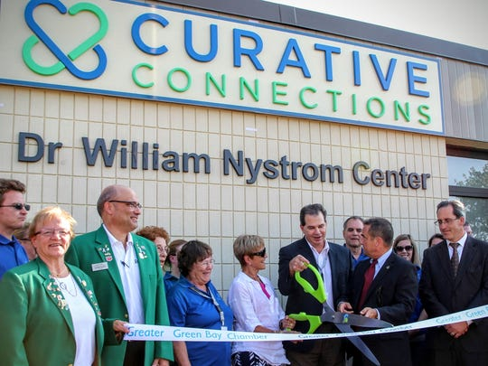 N.E.W. Curative Rehabilitation staff celebrated its name change to Curative Connections this month with a ribbon cutting.