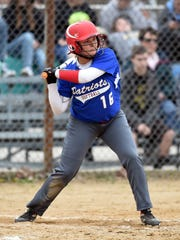 Union County's Rachel Sparks swings the bat against Winchester Tuesday, April 11, 2017, during a softball game in Winchester.
