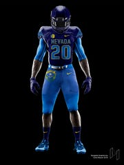 "UNR student Micah Soga designed ""Battle Born"" uniforms"