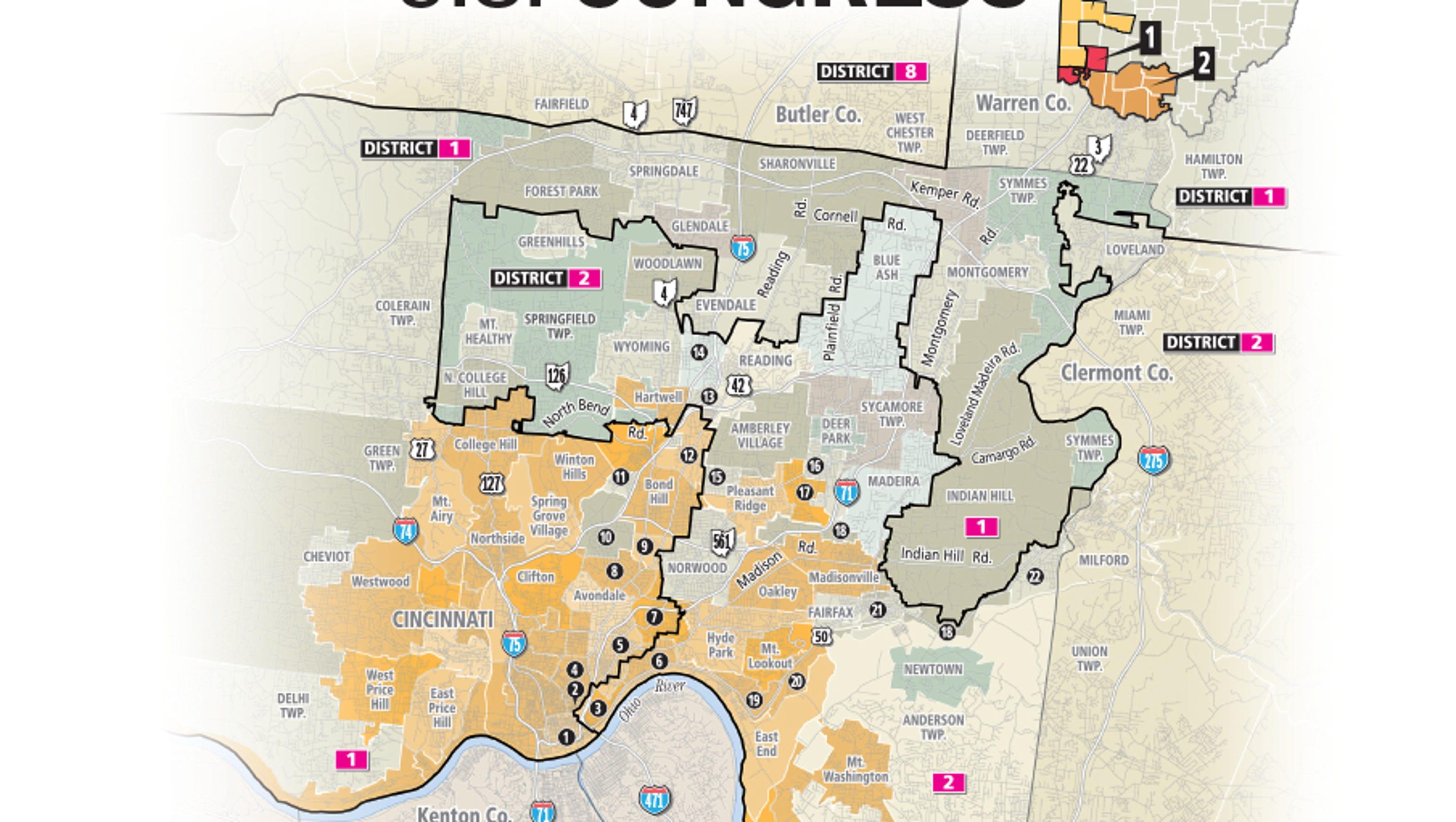 Us Map Cincinnati.Gerrymandering Federal Judges To Hear Challenge To Ohio S Us House Maps